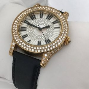 Victoria Wieck Ladies Watch Crystal Accents Gold